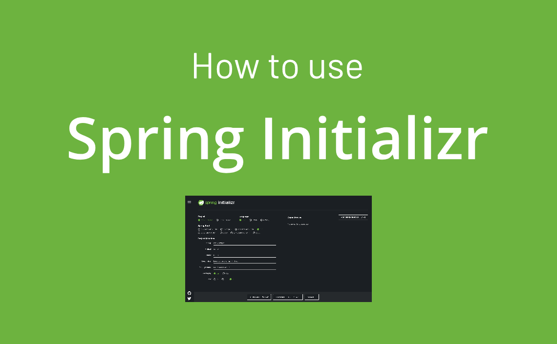 how to use spring initializr